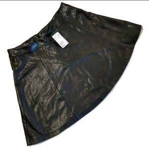 &M Divided Pleather Skirt Size 10 NWT